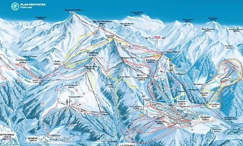 A thumbnail of a piste map of the Verbier ski area