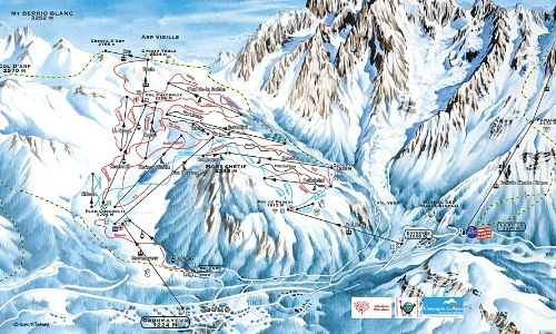 A thumbnail of a piste map of the Courmayeur ski area