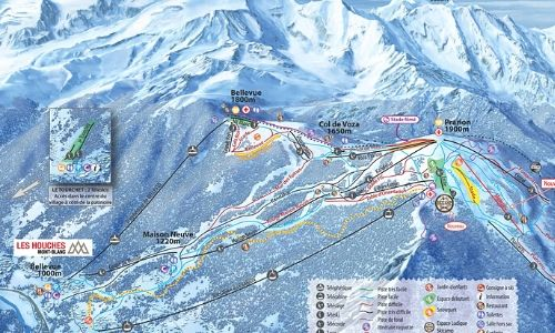 A thumbnail of a piste map of the Les Houches ski area