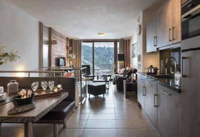 A luxury self-catered ski apartment at the Residence La Centaure in Flaine