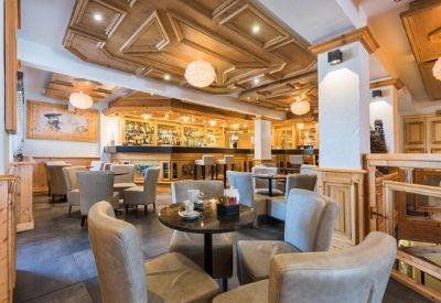A high end hotel restaurant at Hotel Petit Dru in Morzine