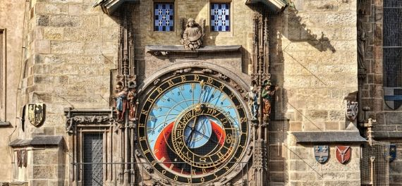 See the Astronomical Clock Strike