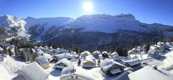 The Flaine ski resort in winter