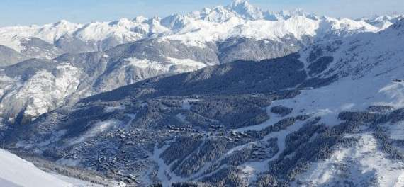 The Meribel ski resort in winter