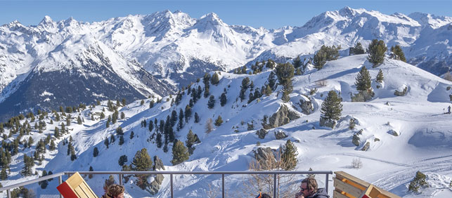 The ski resort of Les Arcs