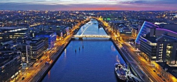 The river through the centre of Dublin