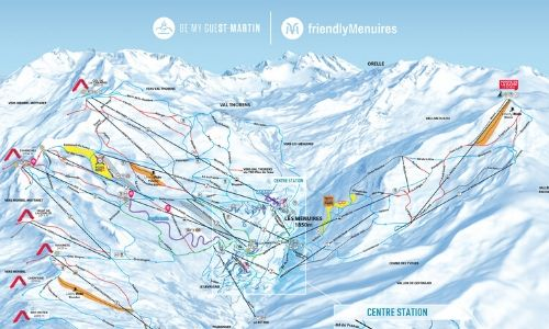A thumbnail of a piste map of the Les Menuires - Saint Martin ski area