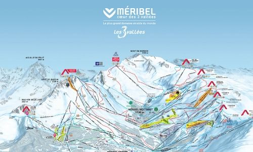 A thumbnail of a piste map of the Meribel ski area in the Three Valleys