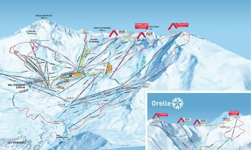 A thumbnail of a piste map of the Val Thorens ski area