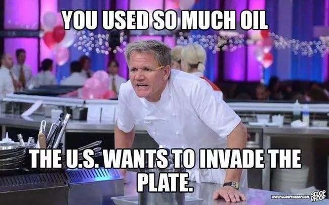 A Gordon Ramsey meme about bad cooking