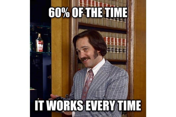 A meme with Brian from Anchorman