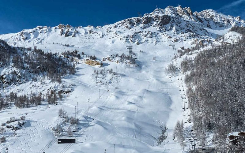 View of La Face, Val d'Isere, France