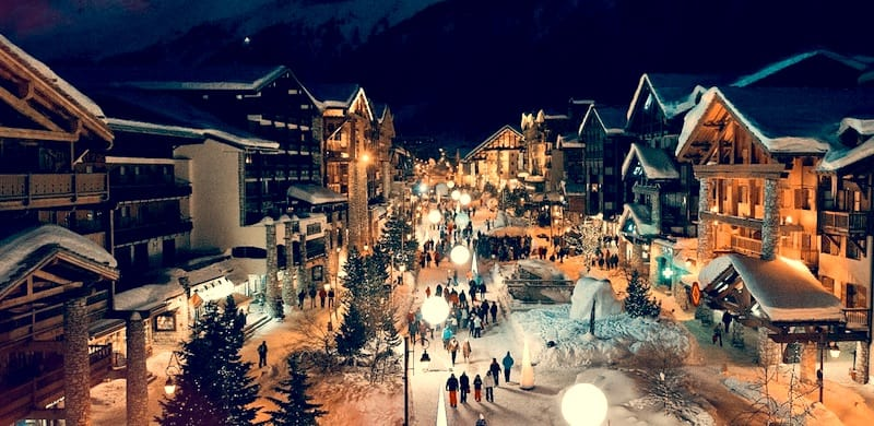 Val d'Isère France village centre