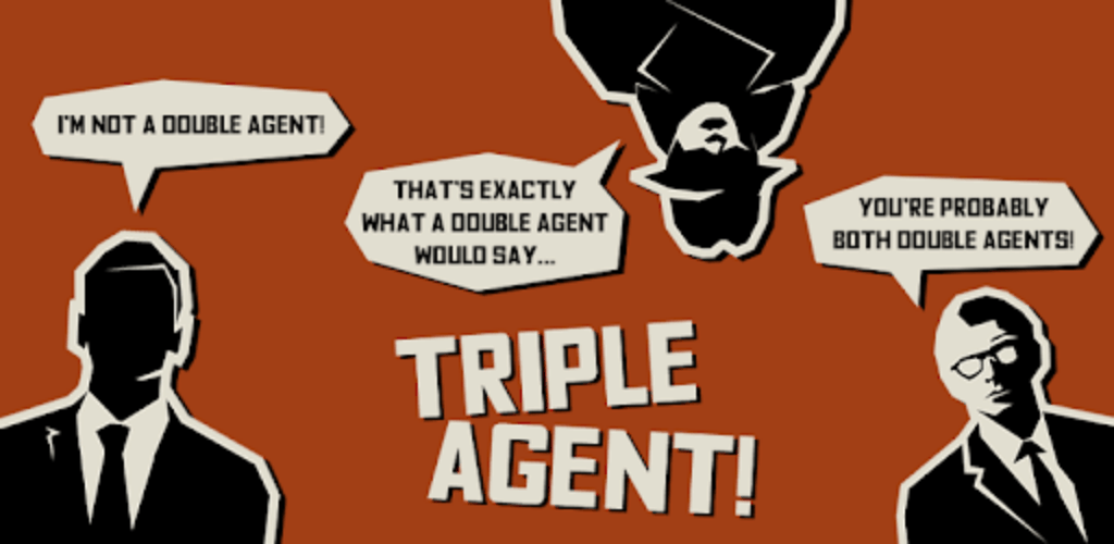 logo image of mobile app triple agents - a great group holiday game