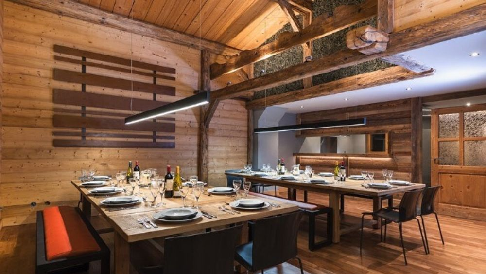 cosy ski chalet dining room
