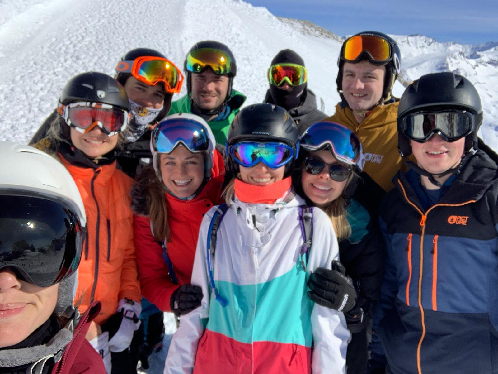 friends on a ski holiday