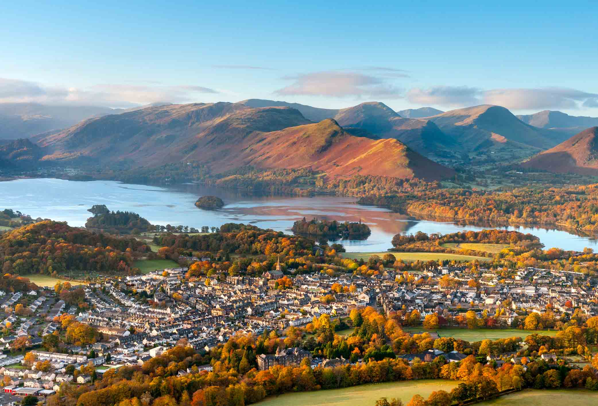 spectacular view of the lakes in the lake district