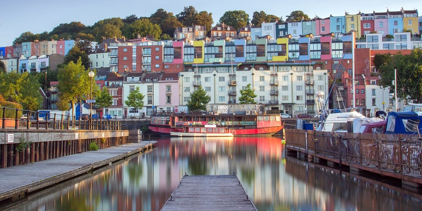 colourful buildings in bristol