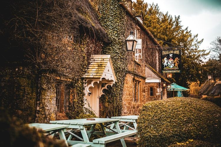 country pub in the cotswolds, england
